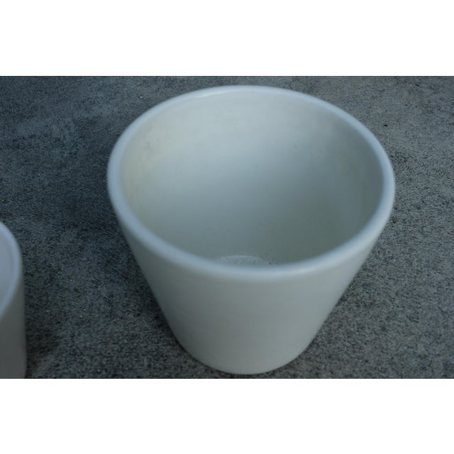 Mid-Century Modern 1960's Vintage White Planter-a Pair For Sale - Image 3 of 6