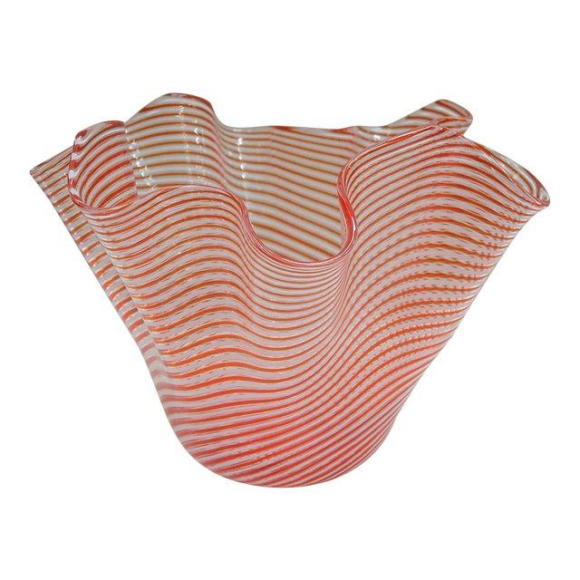 1950s Fratelli Toso Fazzoletto Murano Vase For Sale