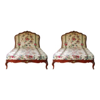 1930's Louis XV Handpainted Beds - a Pair For Sale