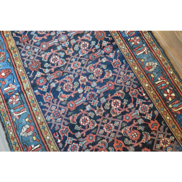 Antique Persian Hand Woven Runner- 3′10″ × 9′7″ - Image 5 of 11
