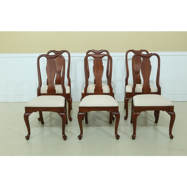 Wood Knob Creek by Ethan Allen Cherry Dining Room Set For Sale - Image 7 of 13