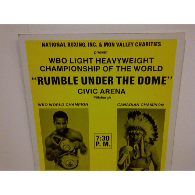 """Rumble Under The Dome"" 1990 Vintage Boxing Poster For Sale - Image 4 of 6"
