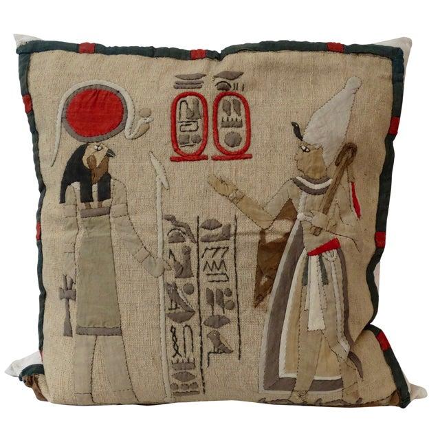 Antique Egyptian Appliqué Pillow - Image 1 of 3