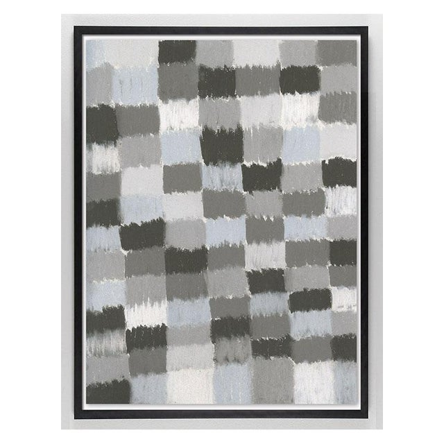 These pastel drawings alternate a range of warm and cool grays in a playful, free form grid. Printed on Archival 100%...