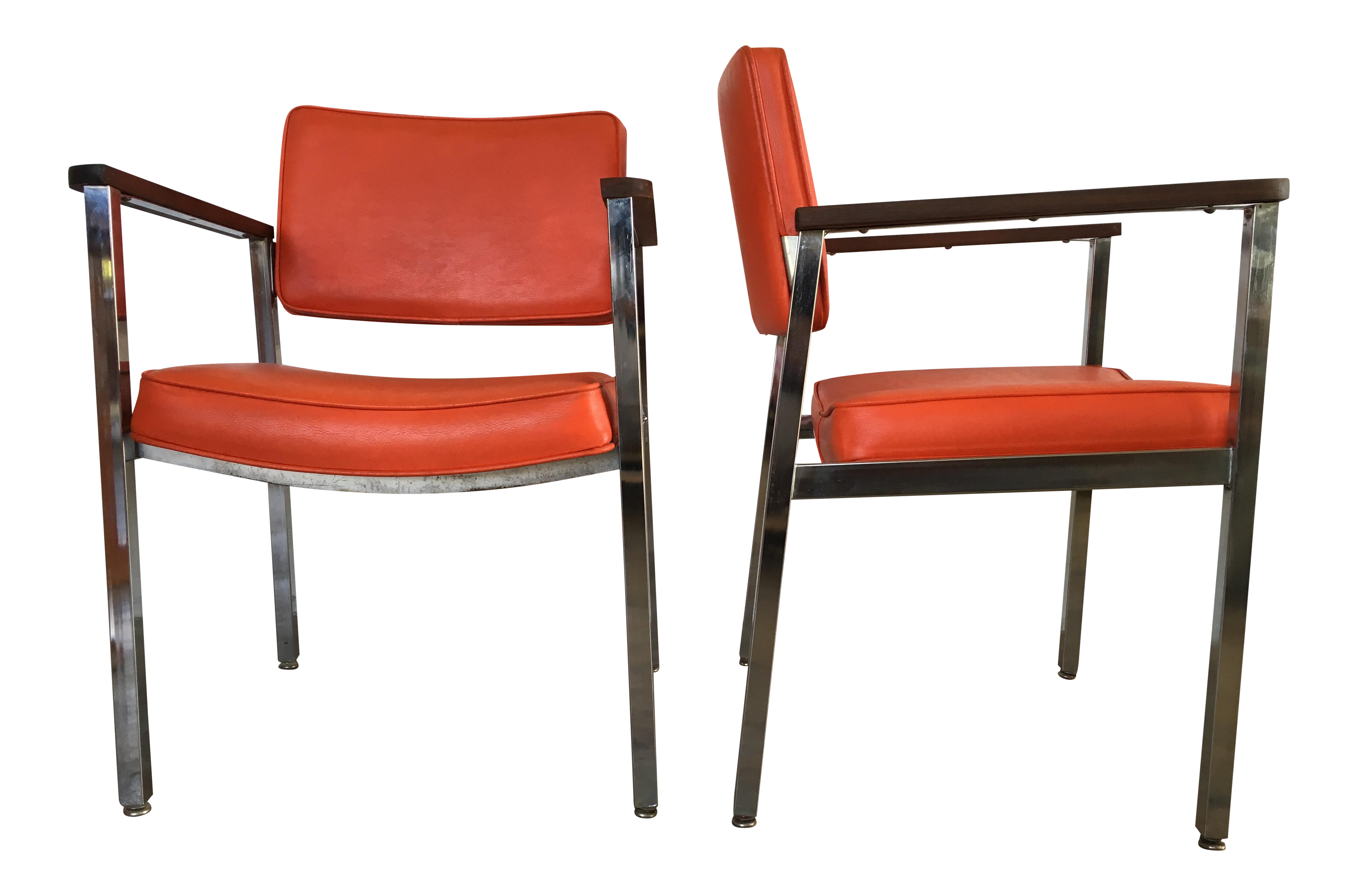 1960s Vintage Haskell Mid Century Modern Office Chairs  A Pair For Sale