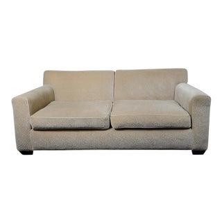 Contemporary Gold Mohair Sofa