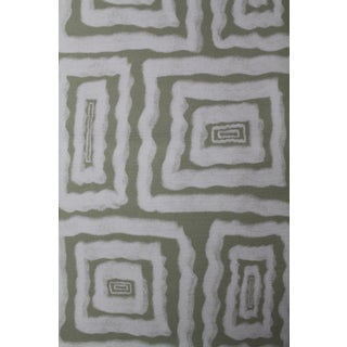 Hajarie Mellow Fabric, 1 Yard, Sage in Linen & Cotton For Sale
