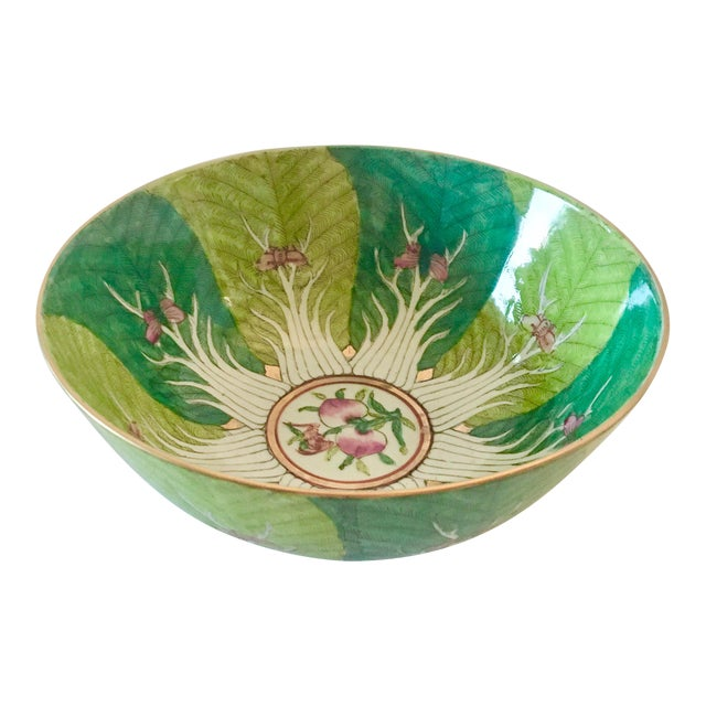 Vintage Chinoiserie Bowl Made for Lord and Taylor For Sale