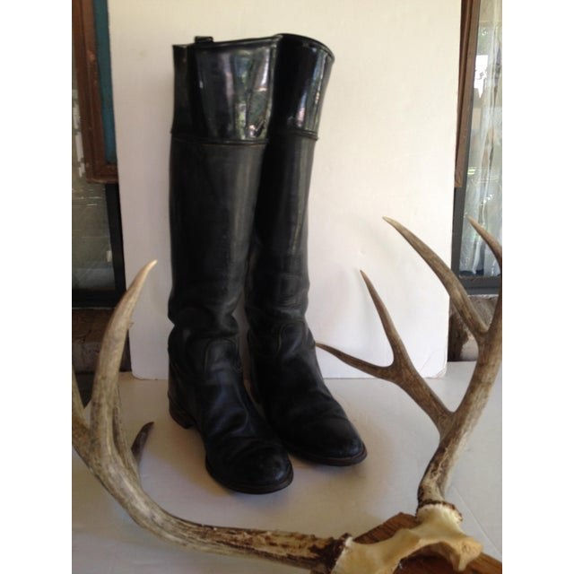 Black Leather Equestrian Boots - Image 2 of 5