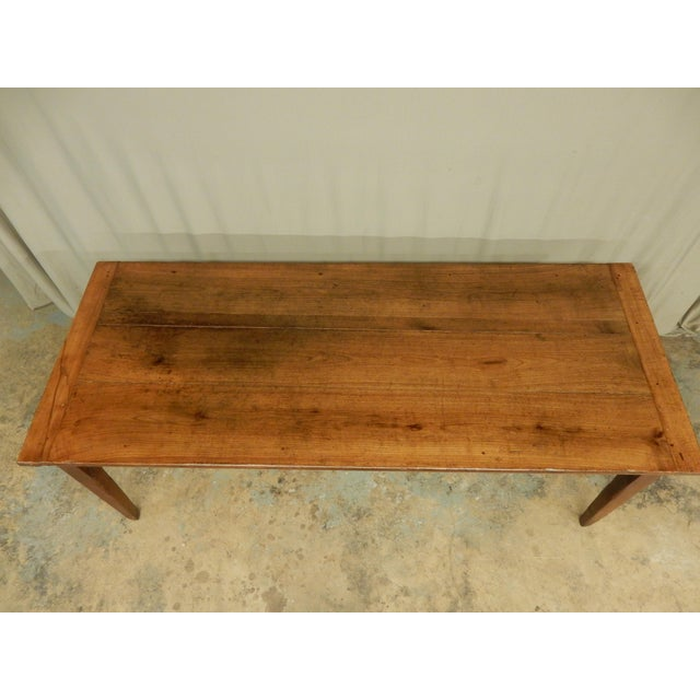 Traditional Early 19th C. French Walnut Farm Table For Sale - Image 3 of 8