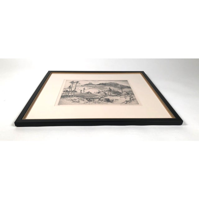 """""""Mountain Farms Near Spruce Pine, North Carolina"""" Etching by Harrison Cady For Sale In Boston - Image 6 of 13"""