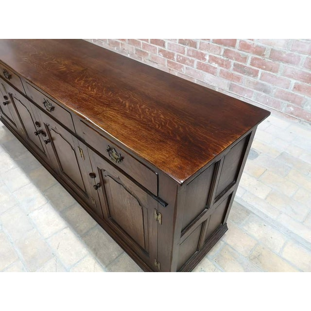 Early 20th C. French Country Oak Sideboard Credenza Buffet Server For Sale - Image 11 of 13