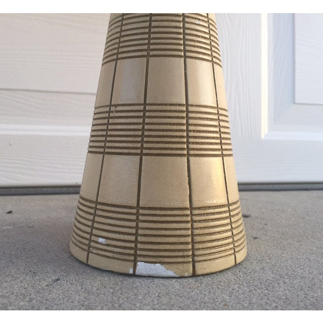 Mid-Century Ceramic & Walnut Lamps - Pair - Image 6 of 10