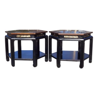 Chinese Chippendale Tables - A Pair