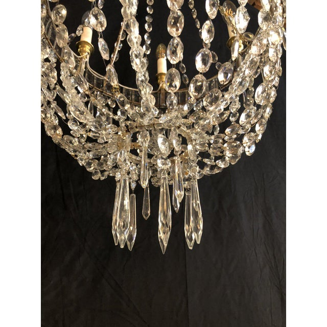 Louis XV Style Traveling Crystal Chandelier For Sale - Image 4 of 6