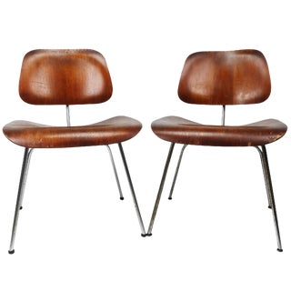 Eames Dcm Chairs for Herman Miller - A Pair