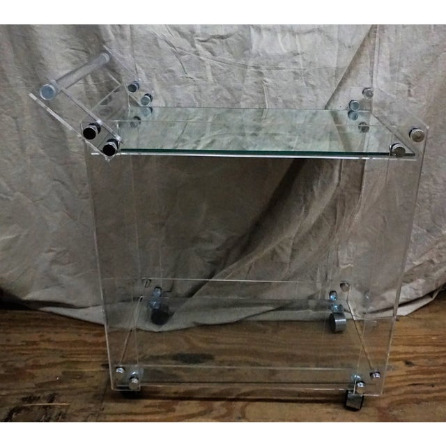 Lucite Bar Cart - Image 2 of 5