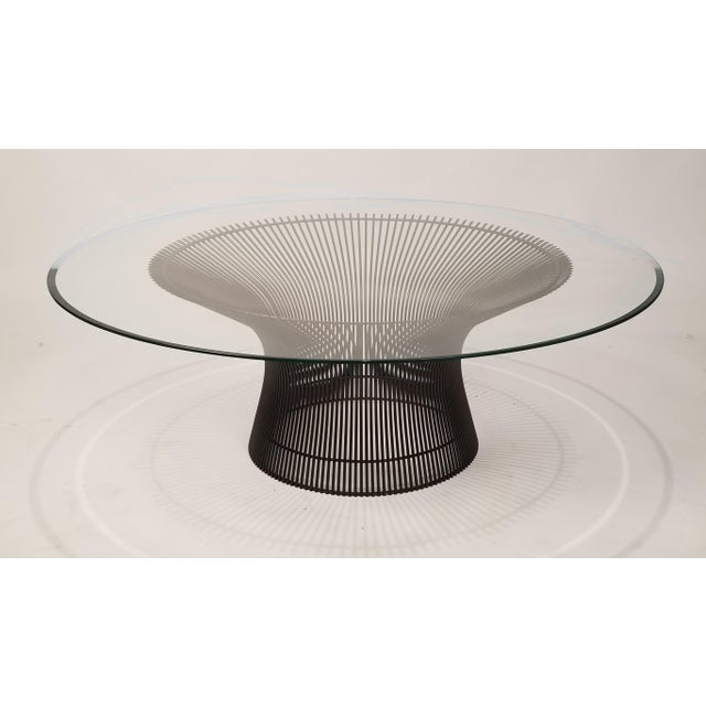 Gold Early Warren Platner Bronze Coffee Table by Knoll, 1966 For Sale - Image 8 of 8