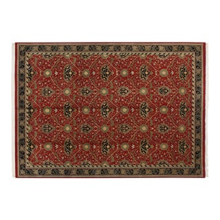 Vintage Indian William Morris Design Carpet - 10' X 14' For Sale