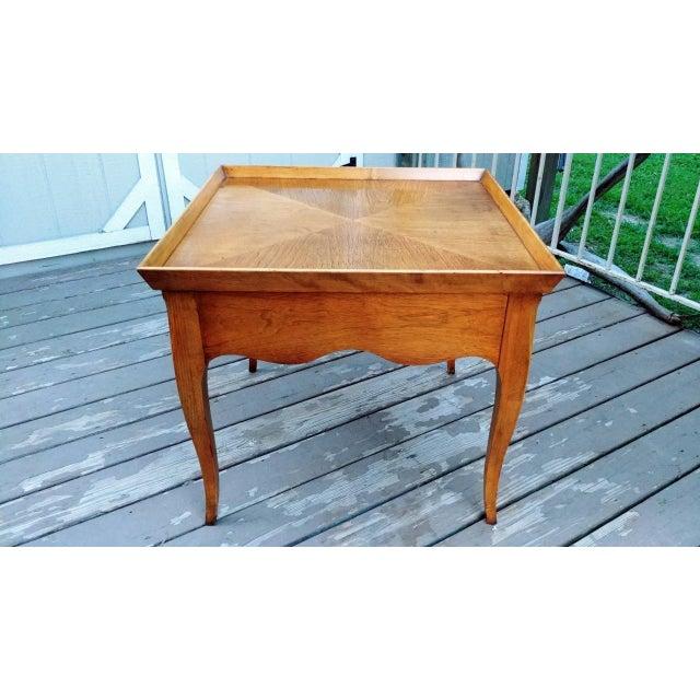 Hollywood Regency 20th Century Regency Baker Furniture Milling Road One Drawer End Table For Sale - Image 3 of 13