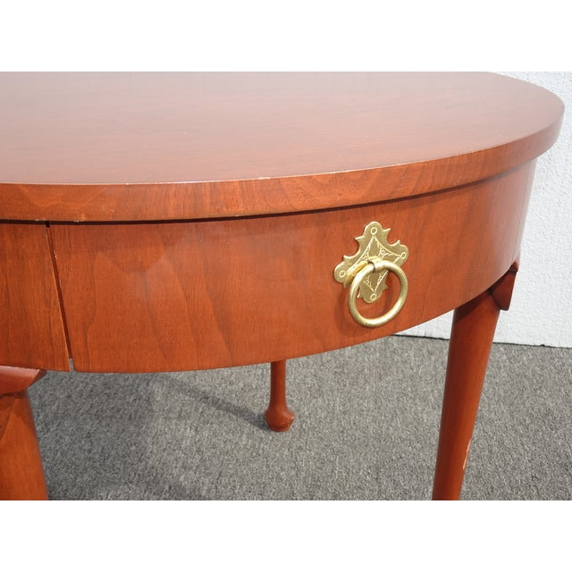 1970s Vintage French Country Side Table Mahogany Color by Baker Furniture Co. For Sale - Image 5 of 13