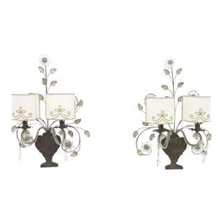 Pair of Wall Sconces by Maison Bagues, France 1940 For Sale