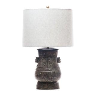 Lawrence & Scott Hogo Table Lamp in Archaic Bronze