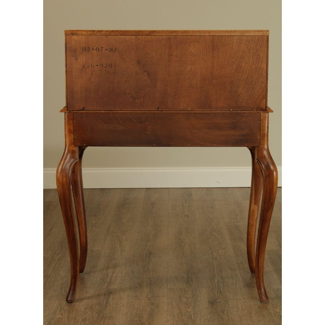 1980s Ethan Allen Country French Slant Front Writing Desk For Sale - Image 5 of 13