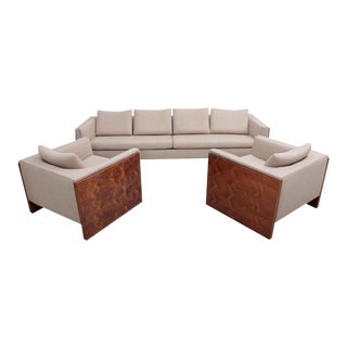 Milo Baughman Case Sofa Set For Sale
