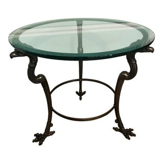 1940s Vintage Neoclassical Style Iron Table