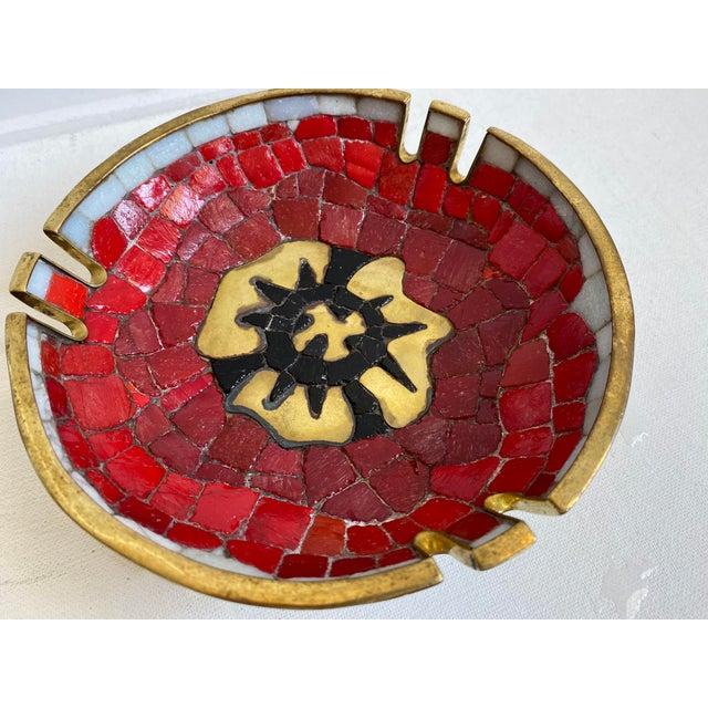 Salvador Teran Salvador Teran Brass and Glass Decorative Bowl For Sale - Image 4 of 6