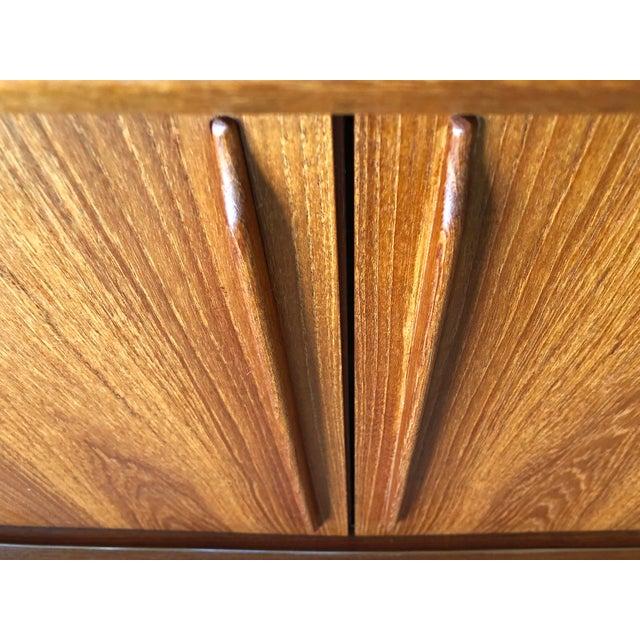 Wood h.p. Hansen 1960s Danish Teak Credenza For Sale - Image 7 of 13