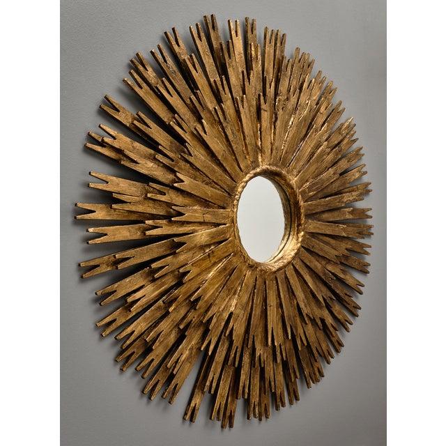 Vintage Spanish Sunburst Mirror For Sale - Image 9 of 10