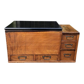 Antique Japanese Five Drawer Copper Lined Hibachi C.1870 For Sale
