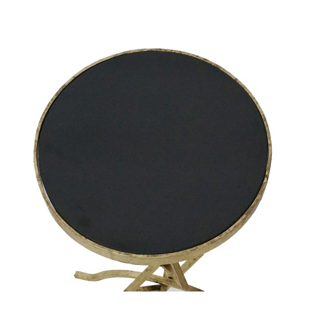 Early 21st Century Flynn Contemporary Granite Top Side Table For Sale - Image 5 of 6