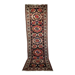 Vintage Persian Tribal Carpet Runner - 4′ × 13′ For Sale