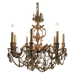 Late 20th Century French Swarovski Crystal Chandelier For Sale