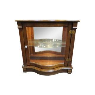 1910 Antique Oak Illuminated Display Case For Sale