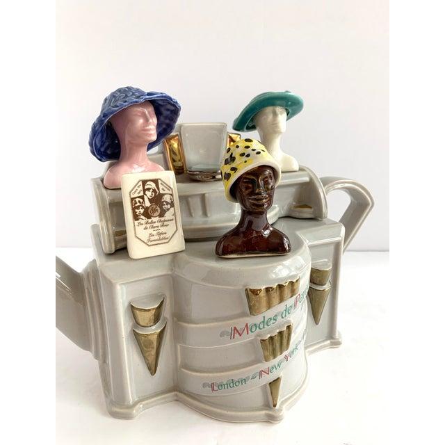 Vintage Richard Parrington Novelty Teapot Mode De Paris For Sale - Image 12 of 13