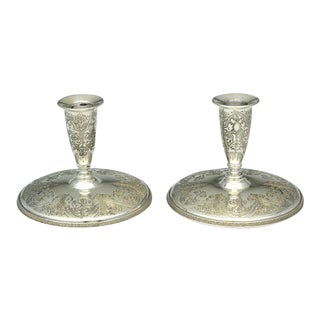 International Silver Paisley Silverplate Candleholder For Sale