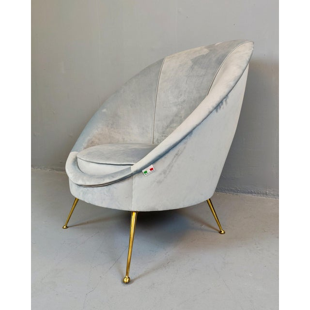 Mid 20th Century Italian Mid-Century Armchairs - a Pair For Sale - Image 5 of 12
