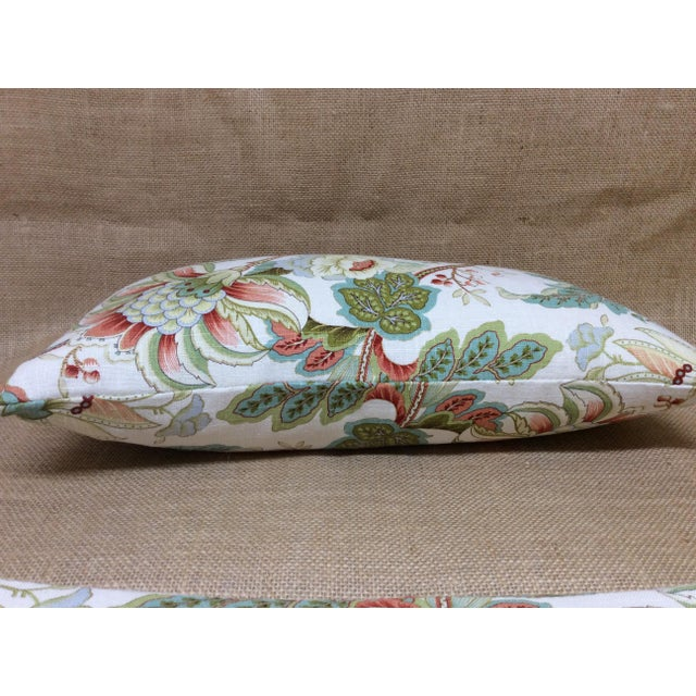Contemporary Contemporary Floral Linen Pillow For Sale - Image 3 of 8