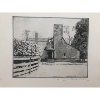 Cedar Park Historic House Etching by Don Swann 1930s For Sale