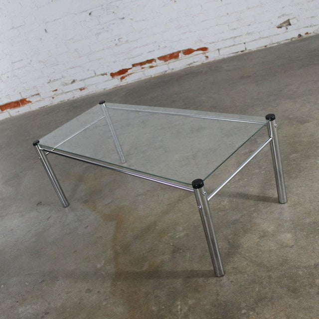 James David Furniture Attributed Chrome & Glass Coffee Table - Image 11 of 12