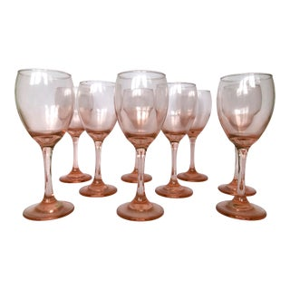 Blush Pink Wine Glasses - Set of 9