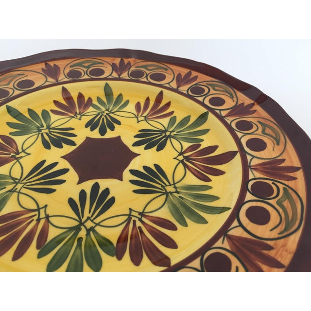 French Polychrome Hand Painted Ceramic Decorative Plate For Sale - Image 11 of 12