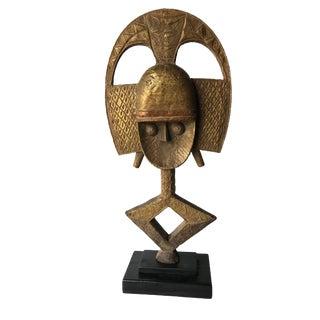 """Bakota Gabon Bronze Sculpture 25.25""""h"""