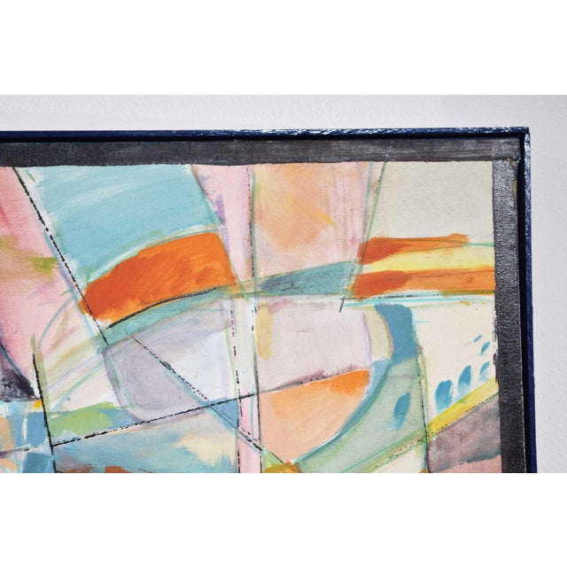 1980s American School Mid-Century Oil Painting on Canvas For Sale - Image 5 of 11
