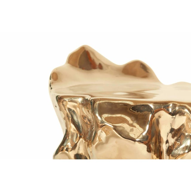 2010s Hand Casted and Polished Bronze Stool II For Sale - Image 5 of 7