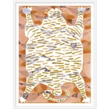 "Image of Medium ""Tiger Rug Camel & Tan"" Print by Kate Roebuck, 27"" X 35"""